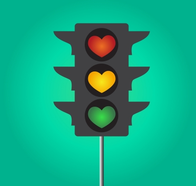 Heart traffic light